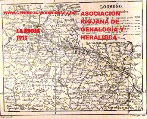 Mapa de la Rioja 1915